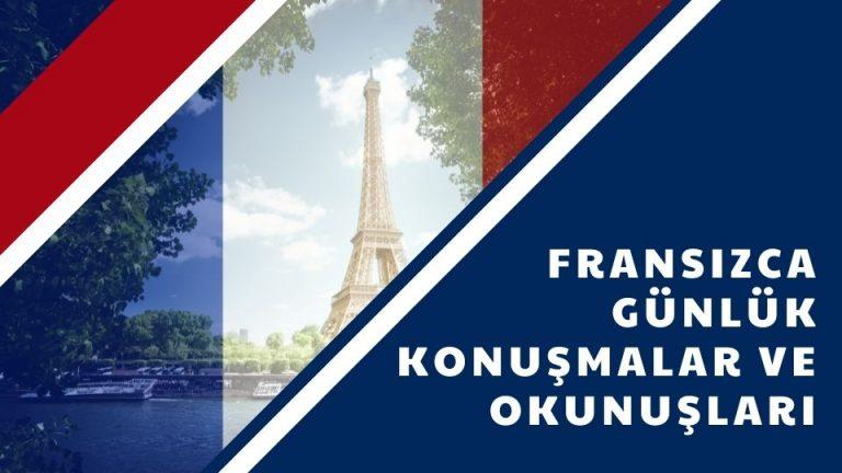 Fransızca Günlük Konuşmalar ve Okunuşları